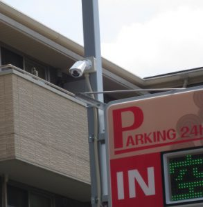 防犯設備工事。監視カメラ