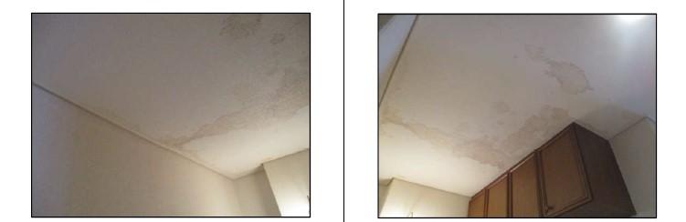 天井漏水写真