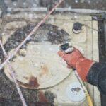 貯水槽清掃作業写真2